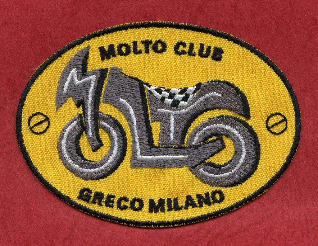 ricamo moto club greco milano